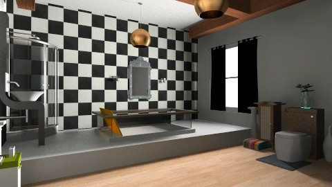 Bathroom - Retro - Bathroom  - by MahaMA