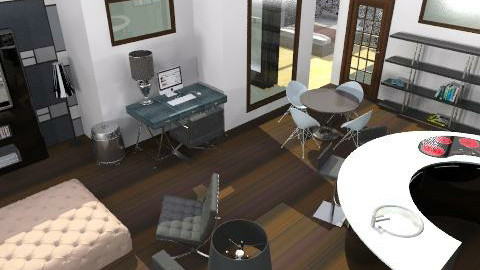 MonochromeStudio - Minimal - Living room  - by camilla_saurus