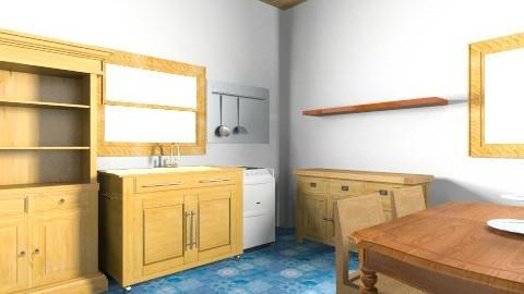 Cozinha da Tia Cleia - Retro - Kitchen  - by caroliviera
