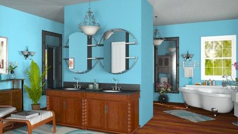 Blue Bathroom - Modern - Bathroom  - by Bibiche