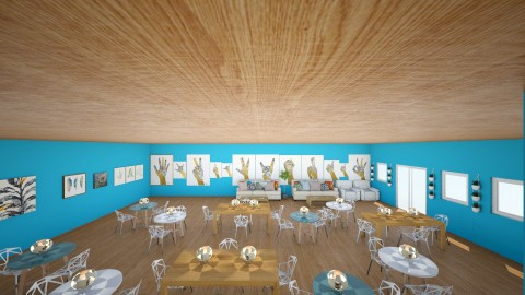 cozy in blue - Modern - Dining room - by wildvioletkiss