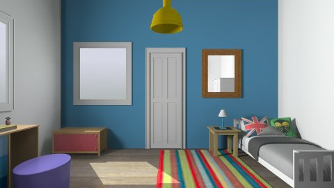 england - Retro - Kids room  - by inki squid