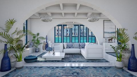 Design 499 Modern Greek - Living room  - by Daisy320