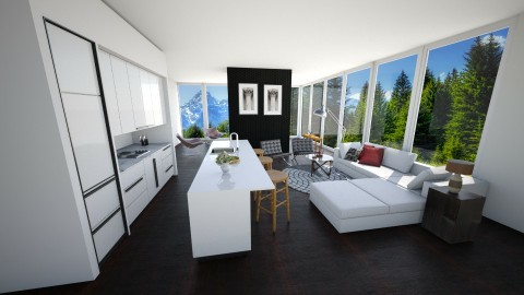 Modern Farm - Rustic - Living room  - by sahfs