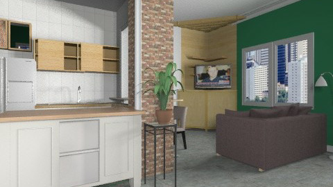 My First Flat - Eclectic - Living room  - by shelleycanuck