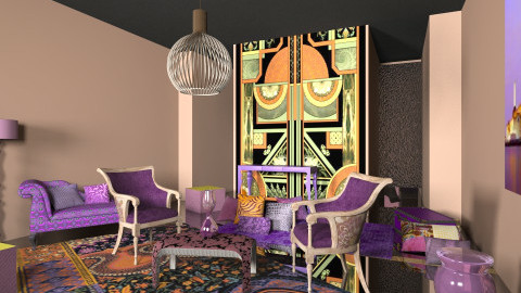 art deco - Eclectic - Living room  - by chania