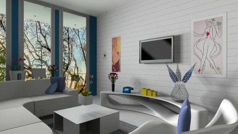 snow blue  - Modern - Living room  - by Bobby_00