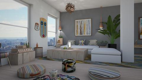 boho_living_contest - Living room  - by gaietta_aa