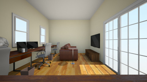 Awesome Office - Rustic - Office  - by ClairePolarBear
