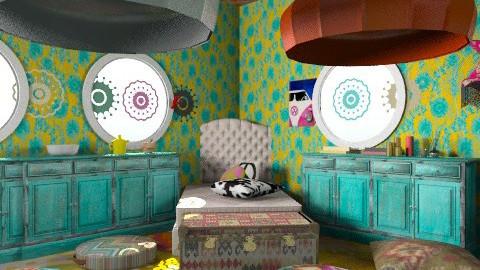 hippi - Vintage - Bedroom  - by lisyy