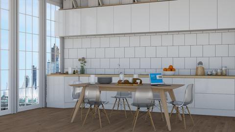 city 2 - Modern - Kitchen  - by NEVERQUITDESIGNIT