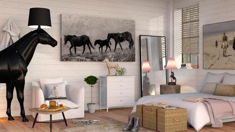 Horselover Bedroom - Eclectic - Bedroom  - by Sally Simpson