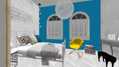 Feelin Blue - Rustic - Bedroom  - by Paul Anthony Libres