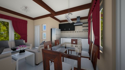 Apartment001_ - Dining room - by ClaveriaCarla