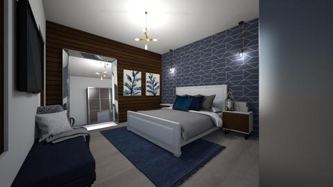 Blue apartment bedroom - by SZdesing