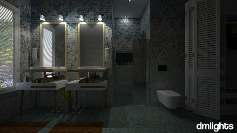 ombre bath - Classic - Bathroom  - by DMLights-user-982918