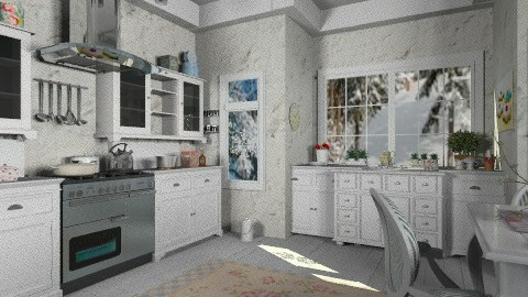 White kitchen - Vintage - Kitchen  - by milyca8