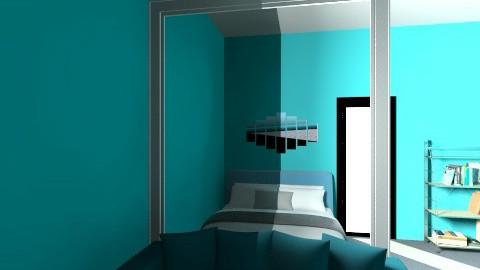 Modern Bedroom in blue - Modern - Bedroom - by Annano