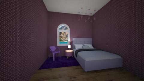 Purple room  - Bedroom  - by hbrown28