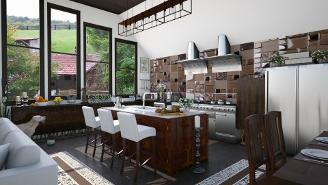 Design 57 White and Wood Kitchen - Kitchen - by Daisy320