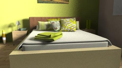 bedroom2 - Rustic - Bedroom  - by srbijanka