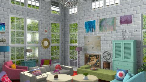 Garden Room - Classic - Living room  - by toadfool