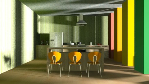 Livingroom with a kitchen - Modern - Living room - by Annano