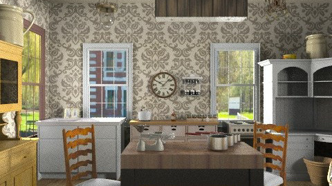 Village - Rustic - Kitchen  - by health