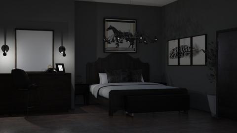 Dark Gothic Bedrom - Bedroom  - by MilksDaBunz