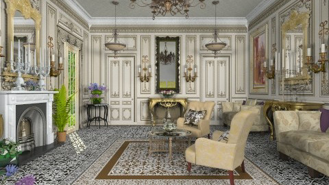 Le Grand Salon - Classic - Living room  - by Bibiche