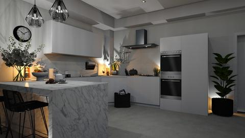 Black meets white edition - Kitchen  - by zarky