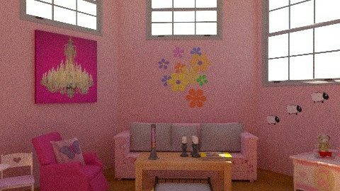 No Boys Living Area - Feminine - Living room - by iwoolnough