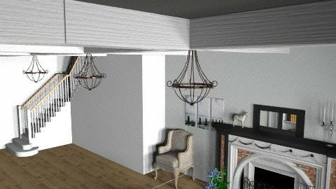 Grey Living Room - Vintage - Living room  - by looper32195