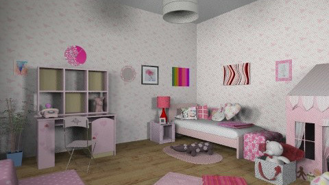 Pink room - Classic - Kids room  - by mirka04