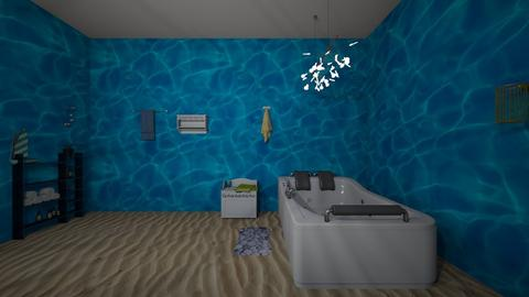 under the sea - Retro - Bathroom  - by katieleigh19x