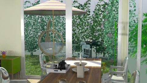 kitchen confidential dining corner - Minimal - Kitchen  - by kiadeco
