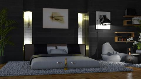 Black and White BR - Living room  - by ZsuzsannaCs
