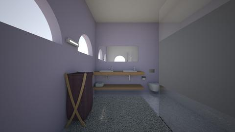 lavender simple bathroom - Modern - Bathroom - by bo043