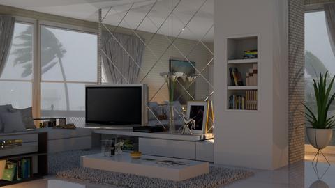 stromy day livingroom - by nat mi