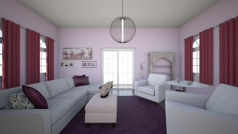 Monochromatic Violet - Living room  - by secrestl0806