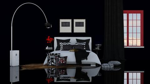 A hint of red - Modern - Bedroom - by HenkRetro1960
