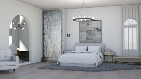 white room - Bedroom  - by Thamara Cummer
