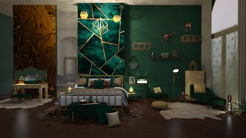 Gold and green relex - Bedroom  - by ginamelia22