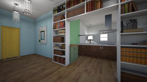 yellow book room  - Feminine - Kitchen - by aschaper