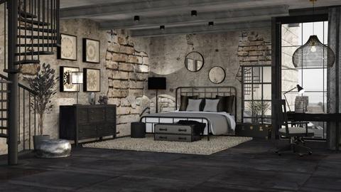 URBAN SLUMBER - Masculine - Bedroom  - by RS Designs
