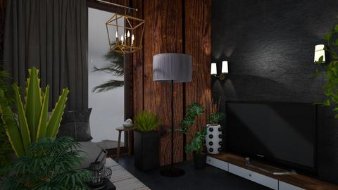 Stormy Day - Living room  - by rechnaya