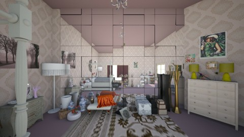 my vintage room 002 - Vintage - Bedroom - by theaphrodite