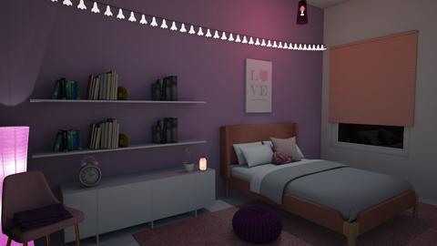 Pink and Purple - Bedroom  - by kasjdg