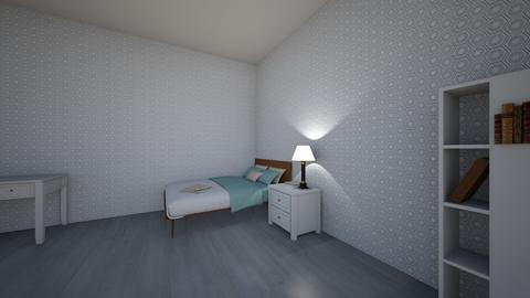 Grey and Blue Aestheitc - Bedroom  - by zodiacrena