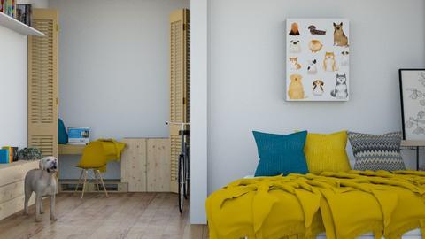 dog lover dorm - Modern - Bedroom  - by matildabeast